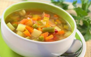 Овощной суп при язве желудка рецепты