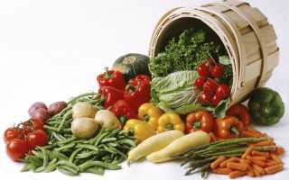 Овощная диета на неделю минус