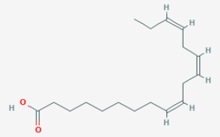 Формула линоленовой кислоты
