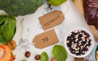 Фолиевая кислота в каких продуктах содержится таблица