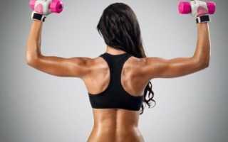 Упражнение на спину с гантелей