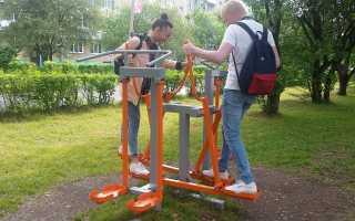 Упражнения на уличных тренажерах для женщин