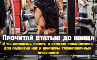 Упражнения для подкачки ног