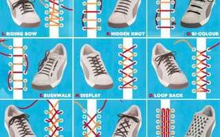 Шнурки для обуви как завязывать красиво