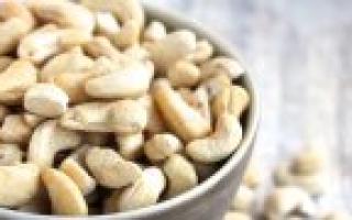 Пищевая ценность орехов таблица