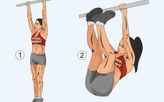 Упражнения в висе на перекладине