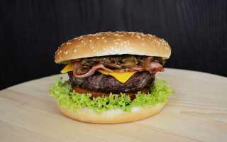 Таблица калорийности бургер кинг