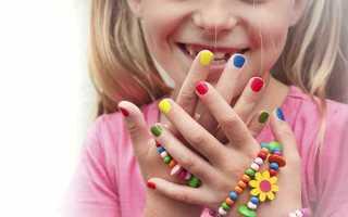 Маникюр на подростковые ногти