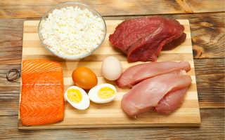 Таблица белков в продуктах для похудения