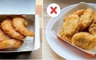 Можно ли наггетсы на диете