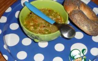 Суп овощной с зеленым горошком рецепт