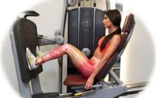 Жим ногами сидя на тренажере