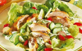 Рецепт приготовления салата с куриными грудками