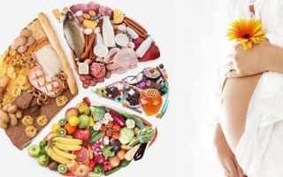 Таблица питания при беременности