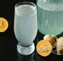 Рецепт напитка имбирь с лимоном