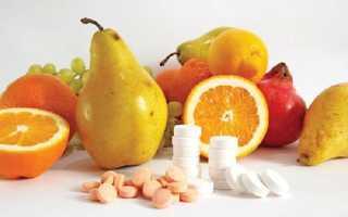 Витамины в продуктах питания таблица для детей