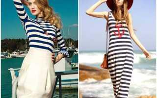 Одежда с морской тематикой