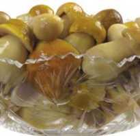 Калорийность вареных грибов таблица