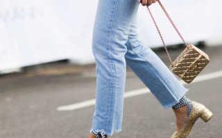 С какой обувью носить прямые джинсы